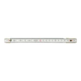KS Tools Holz-Gliedermaßstab, weiß, 2m