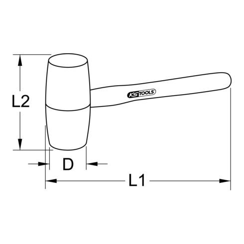 KS Tools Holzhammer