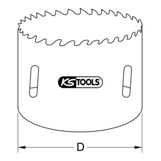 KS Tools HSS Bi-Metalllochsäge