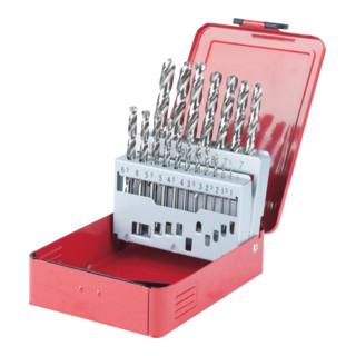 KS Tools HSS-G Spiralbohrer-Satz, Stahlblechkassette, 19-teilig 1-10mm