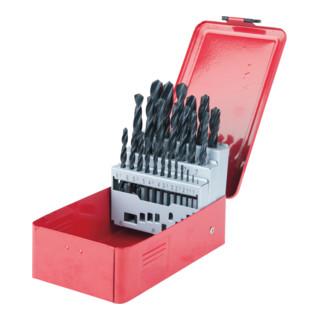 KS Tools HSS-R Spiralbohrer-Satz, Stahlblechkassette, 25-teilig, 1-13mm