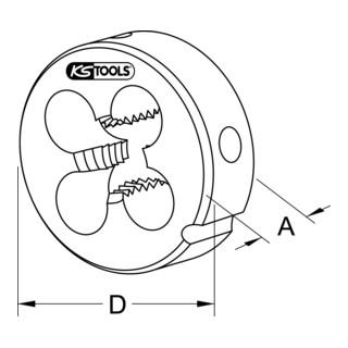 KS Tools HSS Schneideisen MF, M12x1