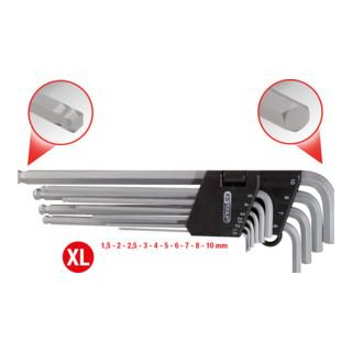 KS Tools Kugelkopf-Innensechskant-Winkelstiftschlüssel-Satz im Klapphalter, 10-tlg.