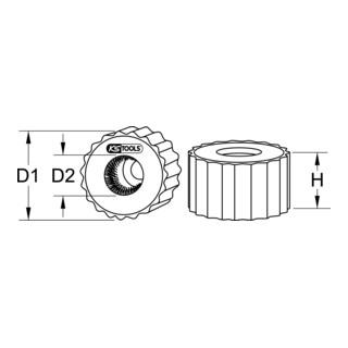 KS Tools Kupferrohr-Außenbürste