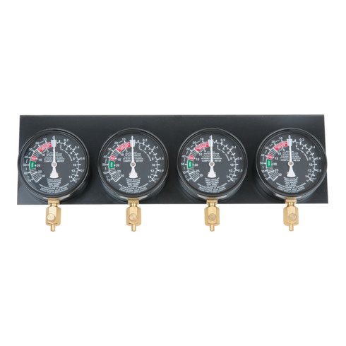 KS Tools Manometer Ø 92mm auf Platte montiert