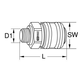 KS Tools Messing-Kupplung mit Außengewinde