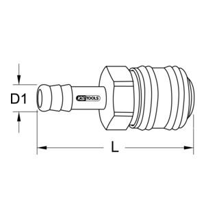 KS Tools Messing-Kupplungen mit Schlauchtülle