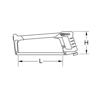 KS Tools Metallsägebogen, 2 Komponentengriff, 300mm