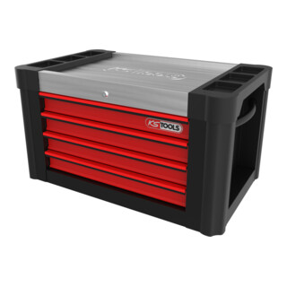 KS Tools PERFORMANCEplus P10TC SCHWARZ/ROT Werkstattwagenaufsatz mit 4 Schubladen
