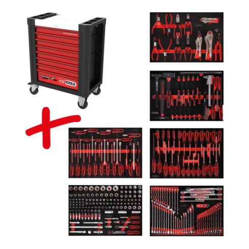 KS Tools Performanceplus Werkstattwagen-Satz P10 mit 271 Werkzeugen für 6 Schubladen