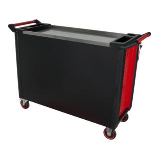 KS Tools RACINGline+ SCHWARZ/ROT Werkstattwagen mit 7 Schubladen und 1 Tür