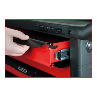 KS Tools RACINGline SCHWARZ/ROT Werkstattwagen mit 7 Schubladen und 1 Tür