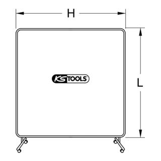 KS Tools Rahmen für Schweißerschutzwand