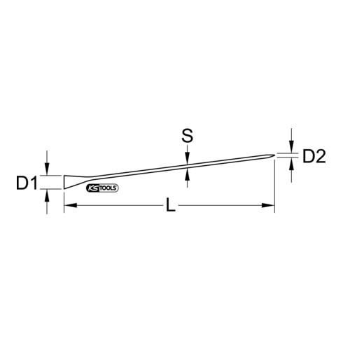 KS Tools Richt- / Montiereisen, 400 mm