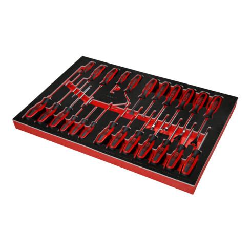 KS Tools Schraubendreher-Satz in Schaumstoffeinlage, 24-tlg