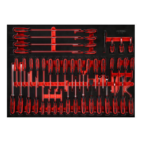 KS Tools Schraubendreher-Satz in Schaumstoffeinlage, 46-tlg