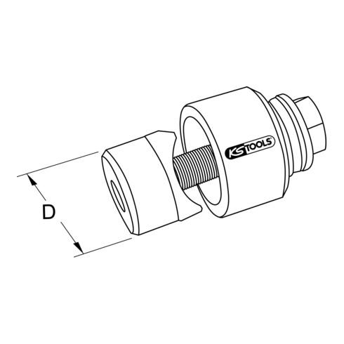 KS Tools Schraublochstanze mit einfachem Kugellager