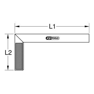 KS Tools Schreinerwinkel mit Aluminiumzunge, 250mm