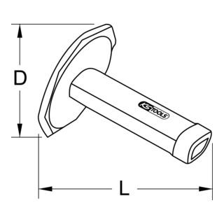 KS Tools Sicherheitshandgriff für Meißel, 140 mm