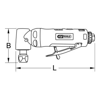 KS Tools SlimPOWER Mini-Druckluft-Winkelstabschleifer, 18.000 U/min