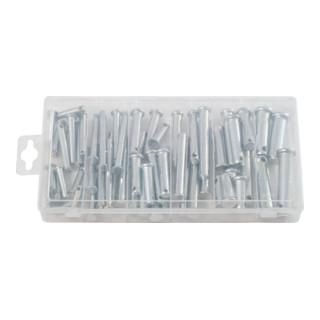 KS Tools Sortiment Sicherungsbolzen, Ø 5-12mm, 21 Größen, 60-teilig