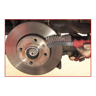KS Tools Stahldraht-Bremssattel-Drahtbürste 2-reihig, spitz