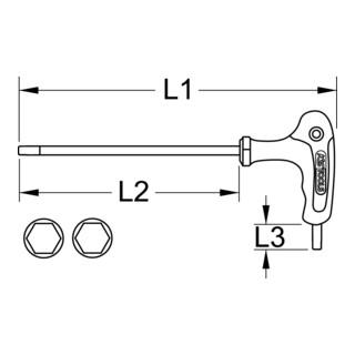 """KS Tools T-Griff-Innensechskant-Schlüssel, 7/64"""""""