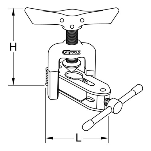 KS Tools Universal-Bördelgerät mit Schnellspannvorrichtung