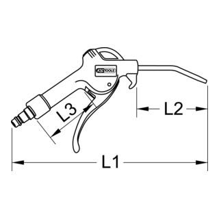 KS Tools Universal-Druckluft-Ausblaspistole
