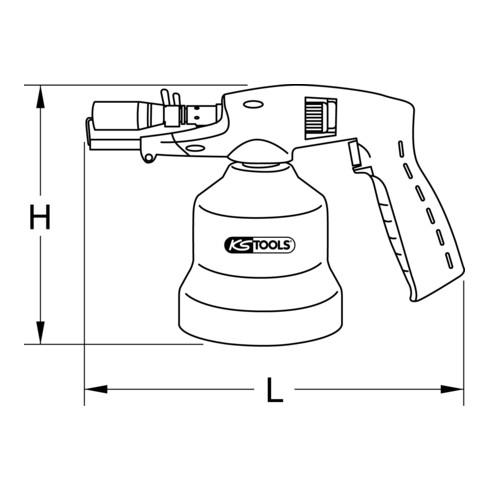 KS Tools Universal-Kartuschenlötgerät mit Piezo-Zündung, blau