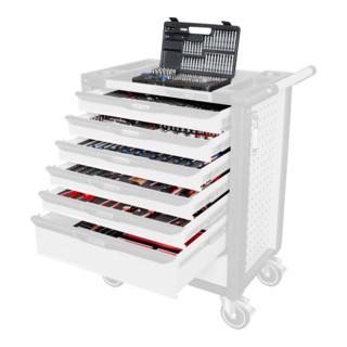 KS Tools Universal-Systemeinlagen-Satz für 6 Schubladen mit 598 Premium-Werkzeugen