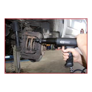 KS Tools Vibro-Impact Druckluft-Meißelhammer-Satz, 6-tlg.