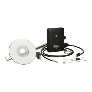 KS Tools Wi-Fi-Videoskop-Satz mit Durchmesser 3,9 mm 0° HD Frontkamera-Sonde, 7-tlg.