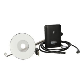 KS Tools Wi-Fi-Videoskop-Satz mit Durchmesser 6,0 mm 0° und 90° HD Frontkamera-Sonde, umschaltbar, 4-tlg.