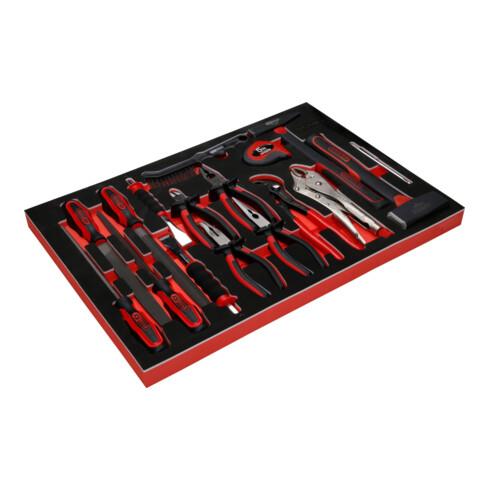 KS Tools Zangen- / Hammer- / und Meißel-Satz in Schaumstoffeinlage, 17-tlg