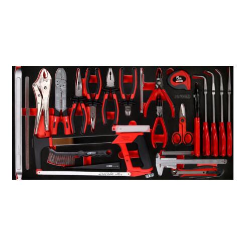 KS Tools Zangen- / und Messwerkzeug-Satz in Schaumstoffeinlage, 36-tlg