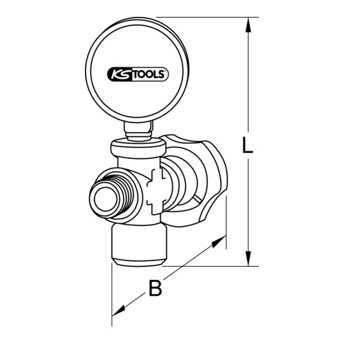 KS Tools Zusatzmanometer, 12bar