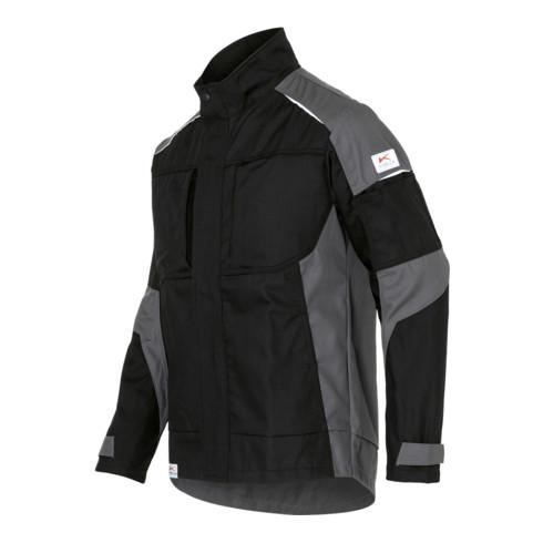 Kübler ACTIVIQ cotton+ Jacke schwarz/anthrazit