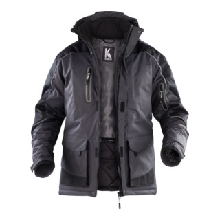 Kübler Wetter-Dress Jacke 1541 dunkelgrau/schwarz