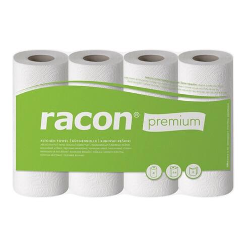 Küchenrolle racon Premium K-2 B220xL250ca.mm weiß 2-lagig,perforiert 4 Rl./PAK
