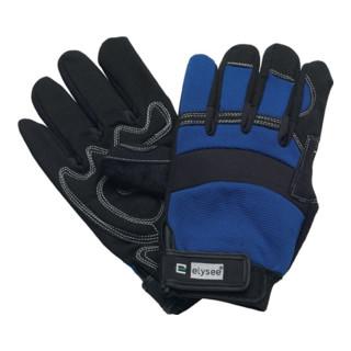 Elysee Handschuhe Mechanical Master mit Klettverschluss schwarz/blau