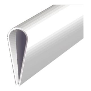 Kunstst.-Klemmprofil 1000/15mm weiß