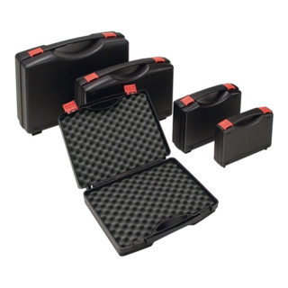 Kunststoffkoffer PP schwarz m.Schaumstoffeinlage B395xT295xH106mm