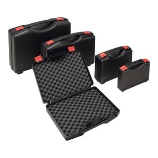 Kunststoffkoffer PP schwarz m.Schaumstoffeinlage L275xB230xH83mm