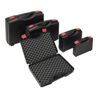Kunststoffkoffer PP schwarz mit Schaumstoffeinlage, L450xB360xH140mm