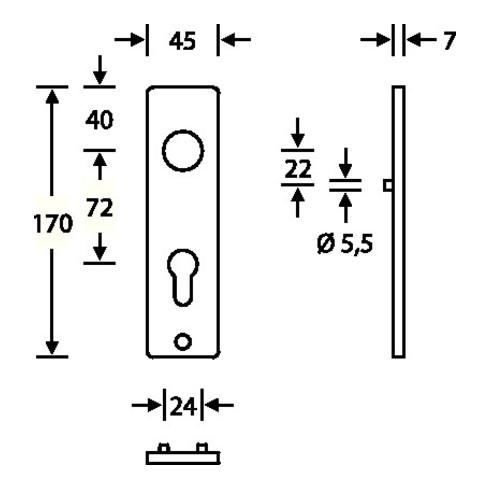 Kurzschild-Paar 14 1402 Alu. F1 PZ