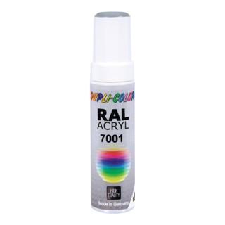 Lackstift silbergrau glänzend RAL 7001 12 ml Stift DUPLI-COLOR