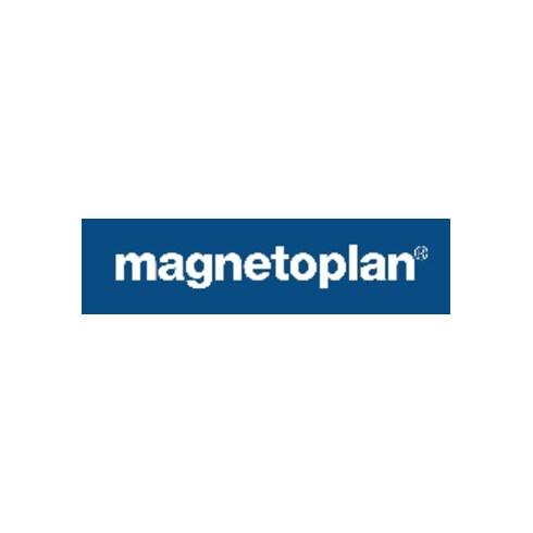 Lagerschild B20 x L100 mm magnetisch weiß Stärke 0,6 mm MAGNETOPLAN