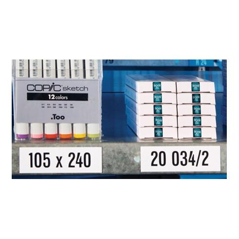 Lagerschild B50x L100mm magnetisch weiß Stärke 0,6 mm MAGNETOPLAN