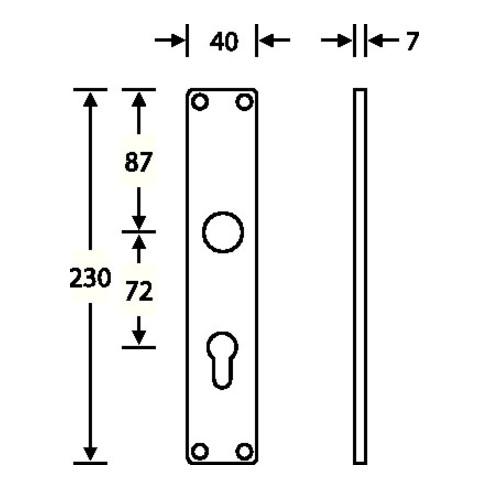Langschild-Paar 14 1407 F1/naturf. 0105 BB 72mm